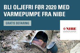 Bli oljefri før 2020 med varmepumpe fra Nibe